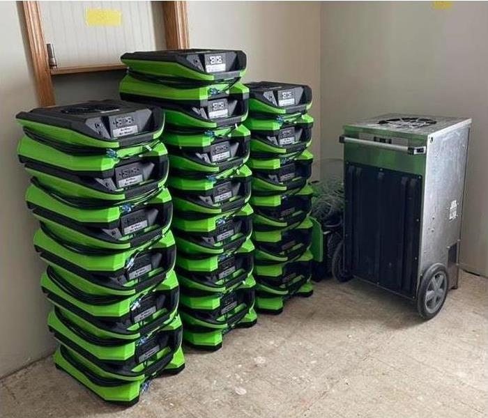 the image shows the new equipment SERVPRO of Port huron has ready and waiting for any disaster.